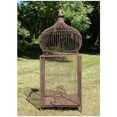 Cage à perroquet en fer forgé