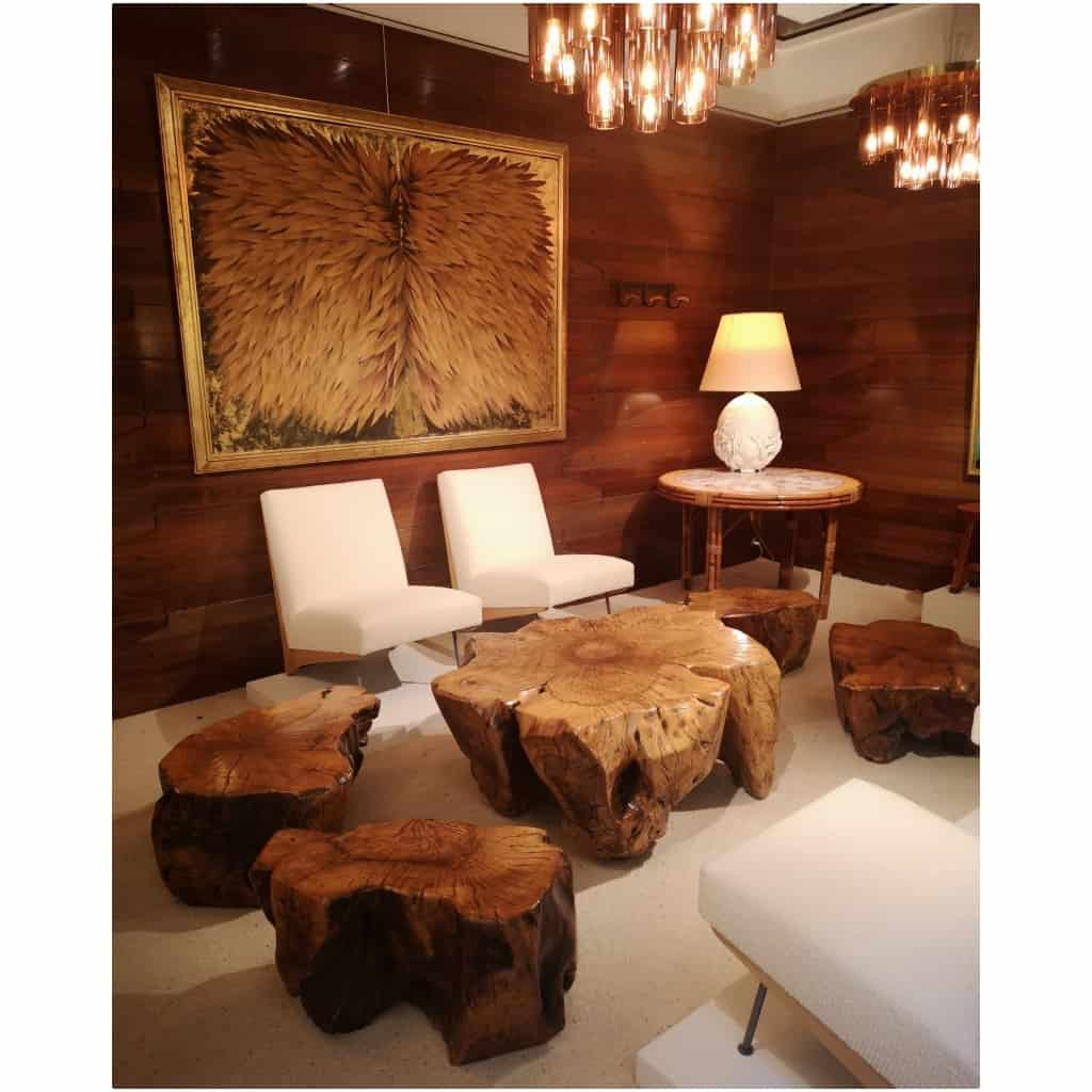 Ensemble de tables basses en racine d'acacia 3