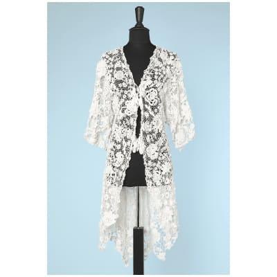 Manteau queue de pie 1900 en Irlande à motifs de fleurs