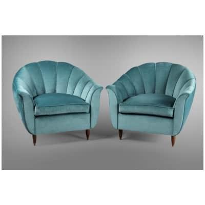 Paires de fauteuils Cesare Lacca, Italie 1950