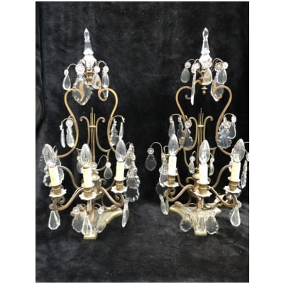 Paire De Girandoles Style Louis XVI