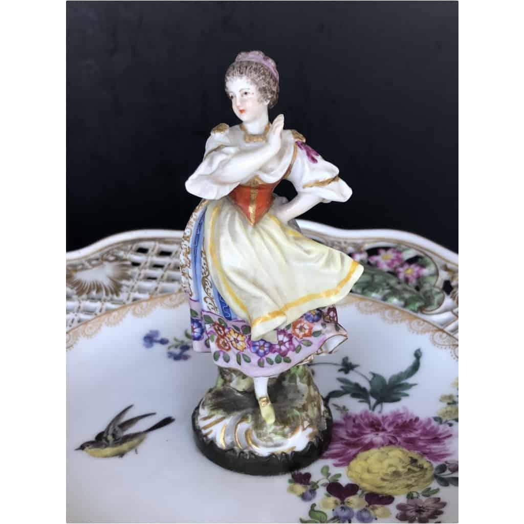 Paire De Serviteurs De Table En Porcelaine Vers 1900 9