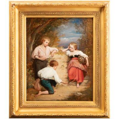 Enfants dans un parc – Amédée Ternante-Lemaire (1821 – 1900)