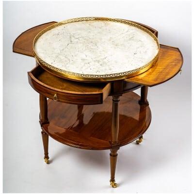 Table Desserte en noyer estampillée de Jean Demoulin époque Louis XVI