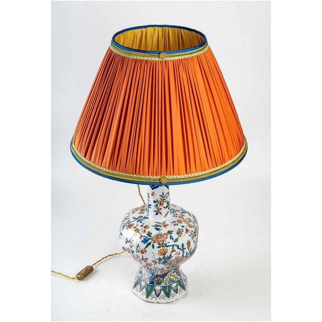Marque Pk – Vase bulbe en faïence polychrome de Delft XIXème siècle monté en lampe 5