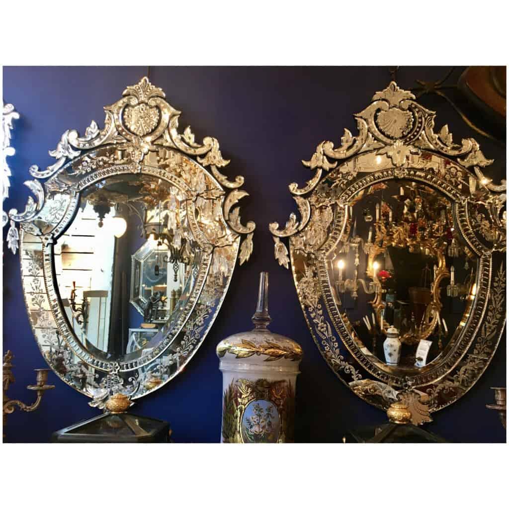 Paire Miroir vénitien/glace Venise