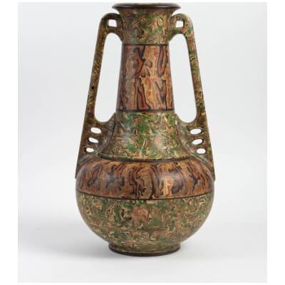 Grand vase en terre mêlées Pichon à Uzès
