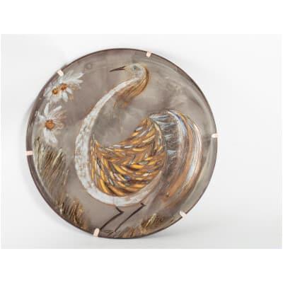 Grand plat en céramique par Alexandre Kostanda ( 1921-2006)