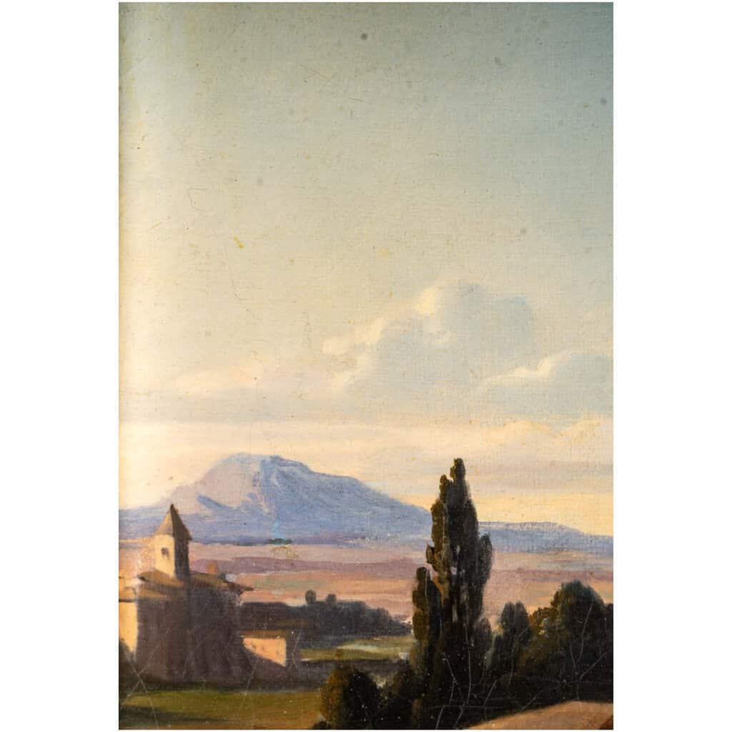 Léopold Robert 1794-1835. Paire De Tableaux. Au Puits Et Le Repos. 9