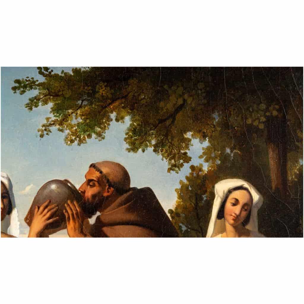 Léopold Robert 1794-1835. Paire De Tableaux. Au Puits Et Le Repos. 11