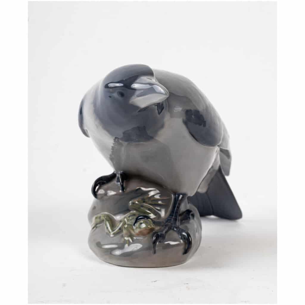 Corbeau et grenouille en porcelaine Royal Copenhague 7
