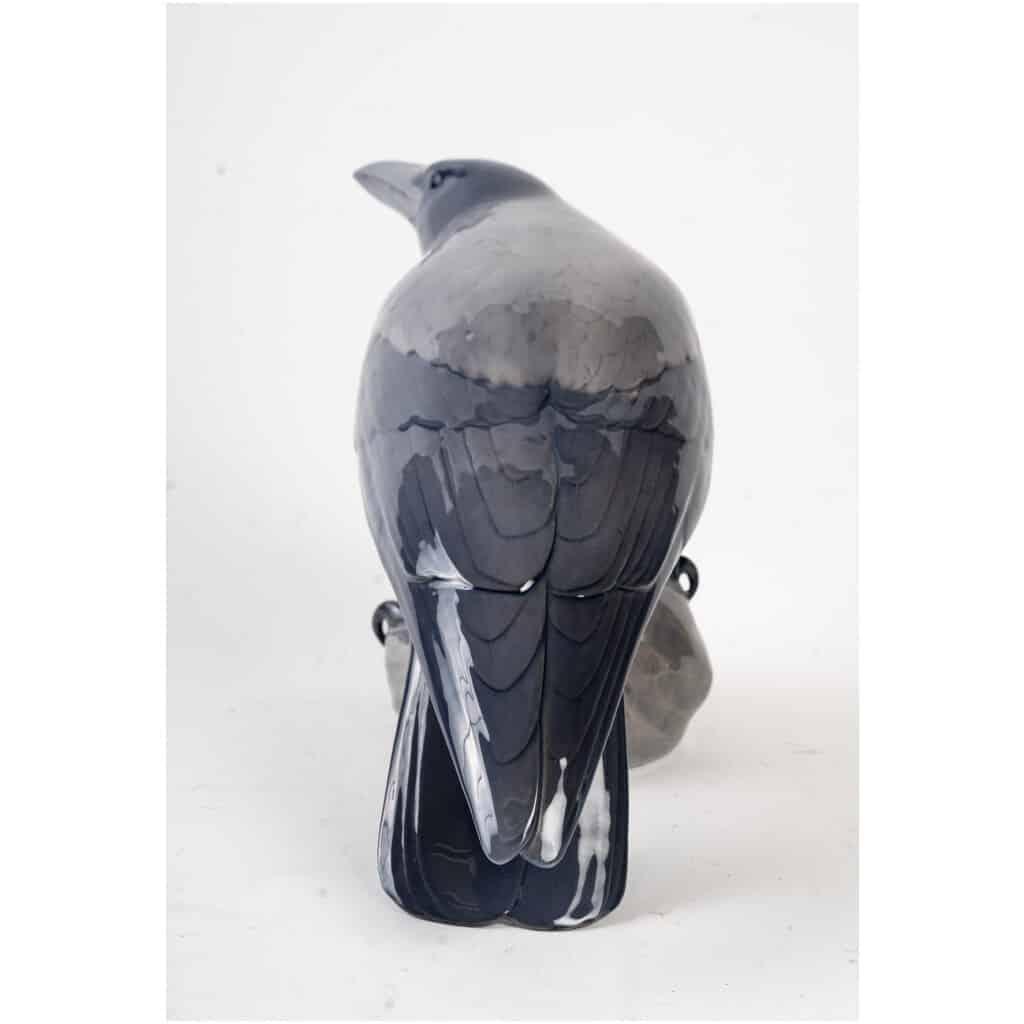 Corbeau et grenouille en porcelaine Royal Copenhague 6