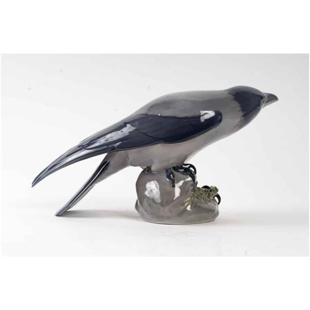 Corbeau et grenouille en porcelaine Royal Copenhague 5
