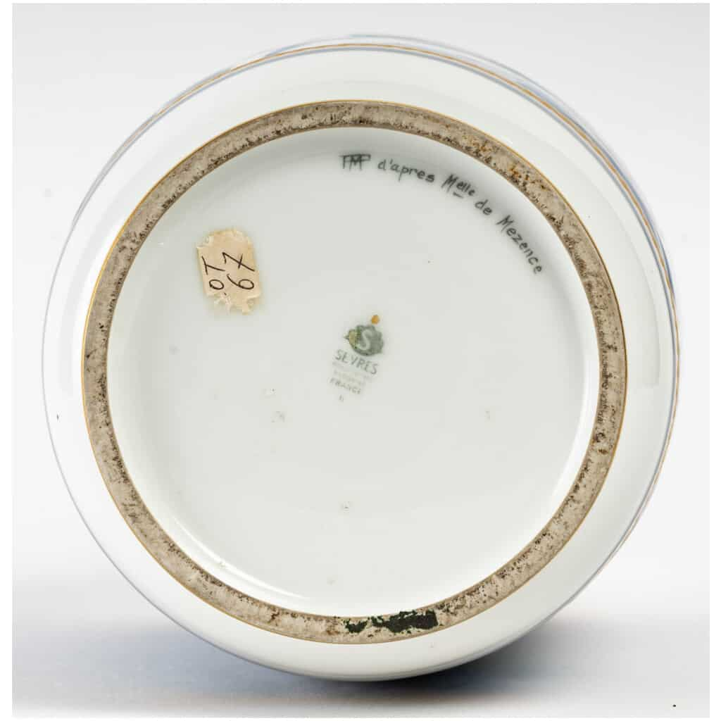 Vase en porcelaine de Sèvres, art déco 8