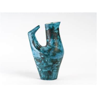 Ceramic bird vase by Jacques Blin (1920- 1995)