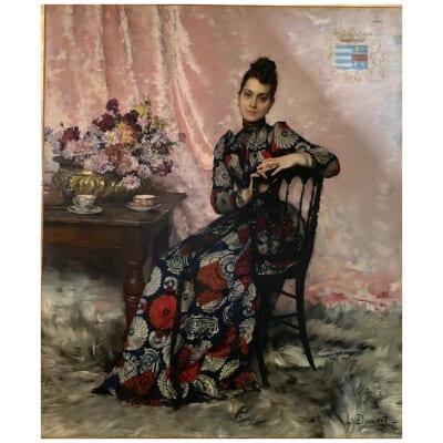 Henri Louis Doucet (1856-1895), Portrait présumé de Jenny Marie Dumesnil d'Engentes, XIXe
