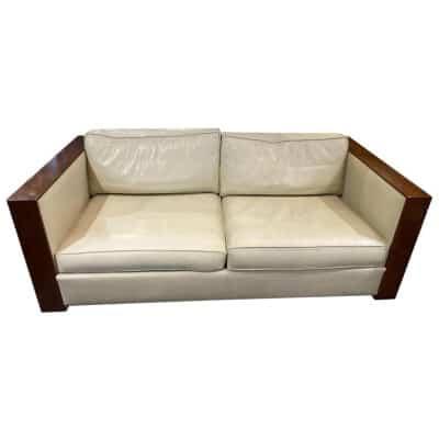 Chevalier, Leather Sofa Design 2 Places, XXth