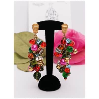 Boucles d'oreilles multicolores Dior