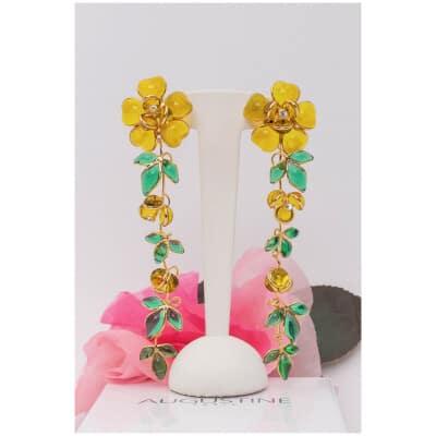 Boucles d'oreilles fleurs Augustine