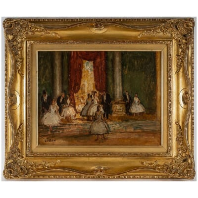 Marcel Cosson Huile sur toile L'Art de la Séduction des Danseuses de l'Opéra Garnier vers 1920