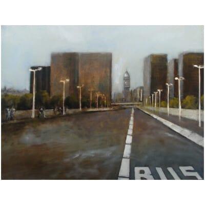 Gare de lyon - oil on canvas 86x116cm