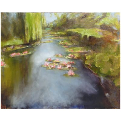 50 Shades of Water Lilies N ° 4 Oil on canvas 130x162cm