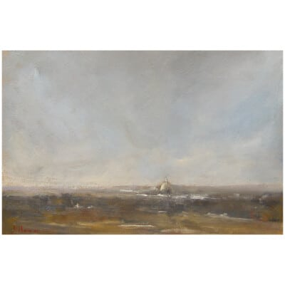 The Invalids In Snowy Weather, Paris - Oil On Canvas