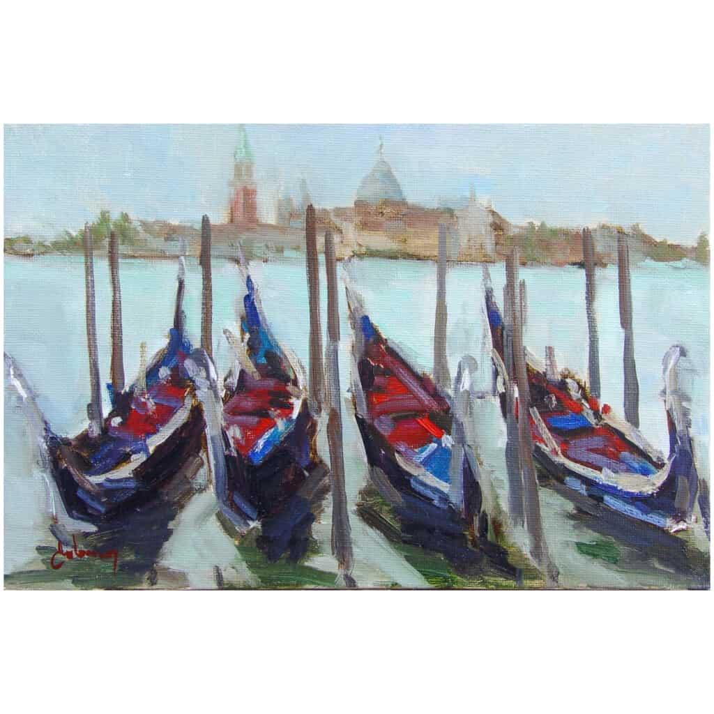 Tableau Gondoles à Venise - Huiles sur toile