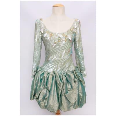 Robe Jean-Louis Scherrer Haute Couture (Attribuée à)