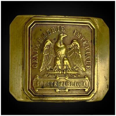 BOUCLE de CEINTURON de « GENDARMERIE IMPÉRIALE » France, époque Second Empire
