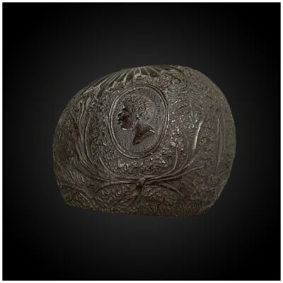COUPE Travail populaire du début du XIXème siècle Noix de coco
