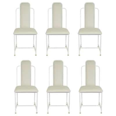 Série de 6 chaises Maison Roche 1970