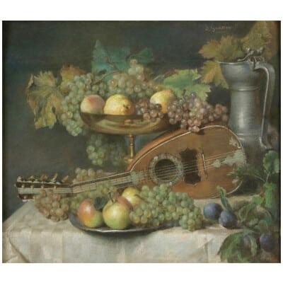 Charles Louis GRATIA ( 1815 – 1911) Peintre et pastelliste français, école de Nancy