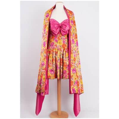 Robe fleurie et son étole Nina Ricci