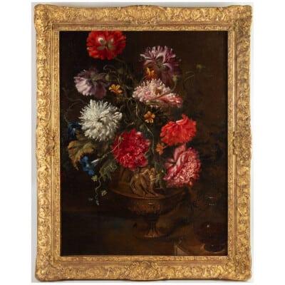 Bouquet de fleurs.Vers 1700.
