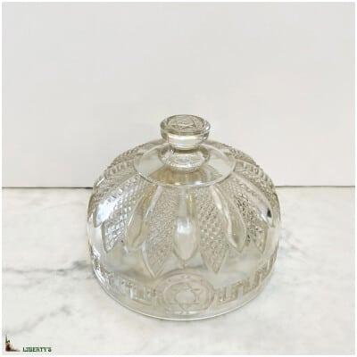 Cloche à fromage cristal à décor Etoile de David, Diam. 15 cm, (Deb. XXe)