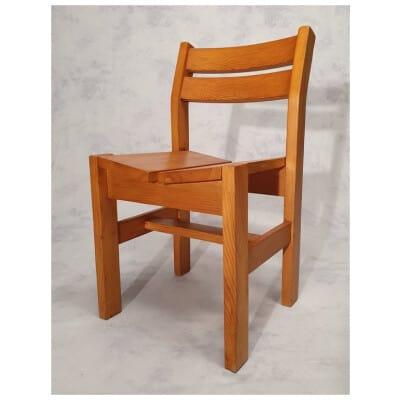 Chaise De Charlotte Perriand – Maison Regain – Pin – Ca 1960