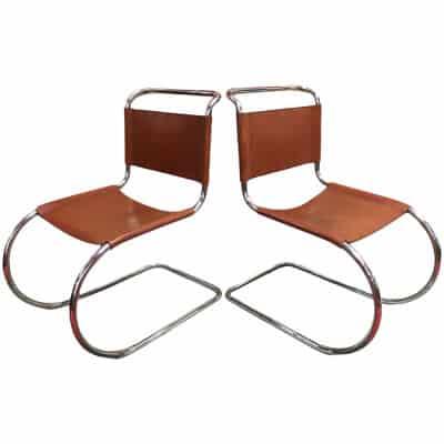 Ludwig Mies Van der Rohe 2 chaises Modèle MR 10