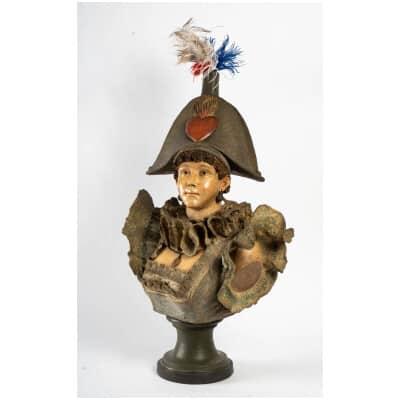 Buste de Merveilleuse avec bicorne (1850 )