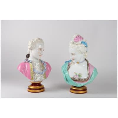 Paire de bustes Baury et Vion (PARIS XIXème )