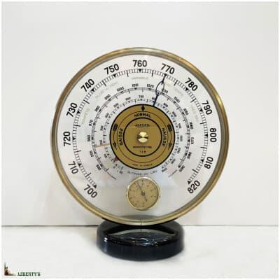 Baromètre et thermomètre de Jaeger, haut. 18 cm (Mi XXe)