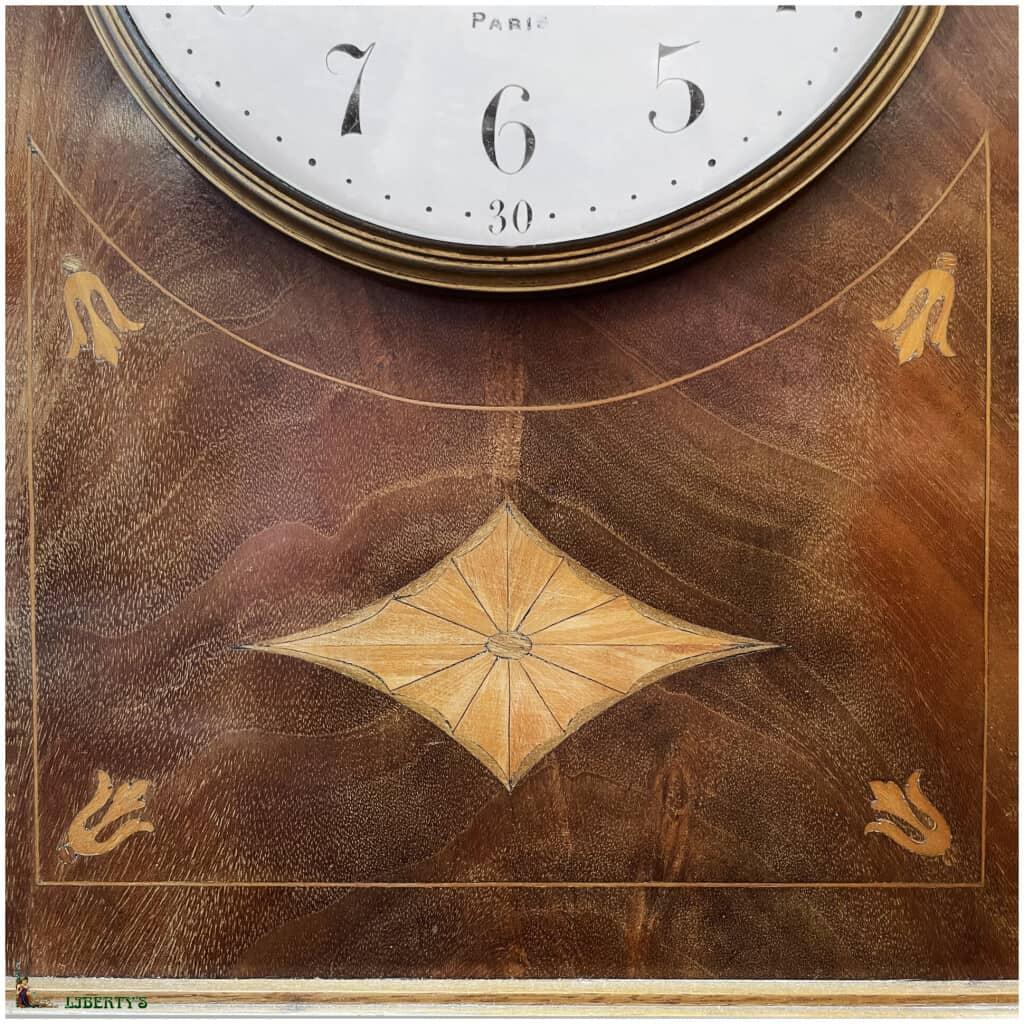 Pendule borne bois, haut. 50 cm, Deb. XXe - 2