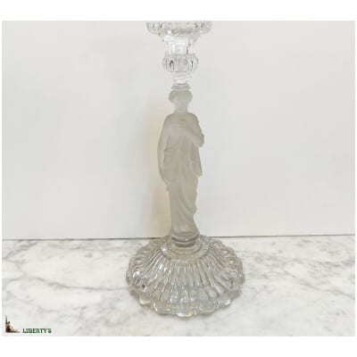 Bougeoir cristal femme, haut. 31 cm, (Mi XXe)