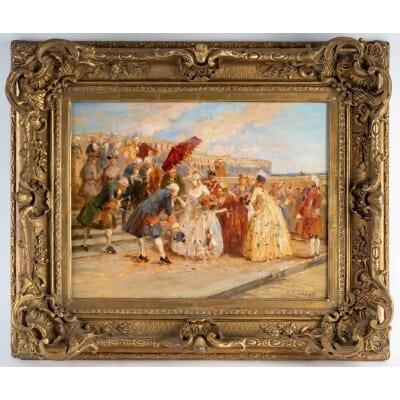 Les Courtisans à Versailles ( Henri Victor LESUR 1863/1932 )