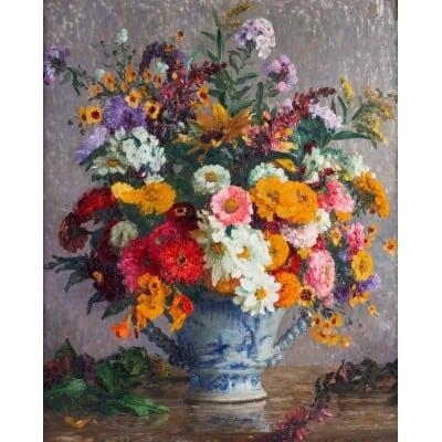 Bouquet de fleurs dans un vase Marthe Moisset (1871/1945 )