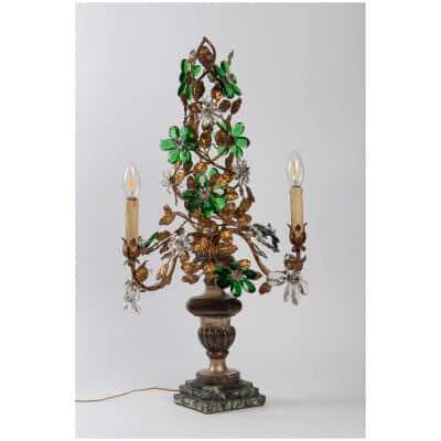 Girandole attribuée à Maison Baguès «modèle à marguerites» 1950