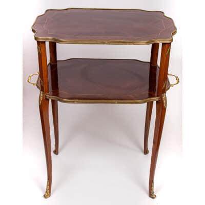 Table à Thé marquèterie (XIXème )