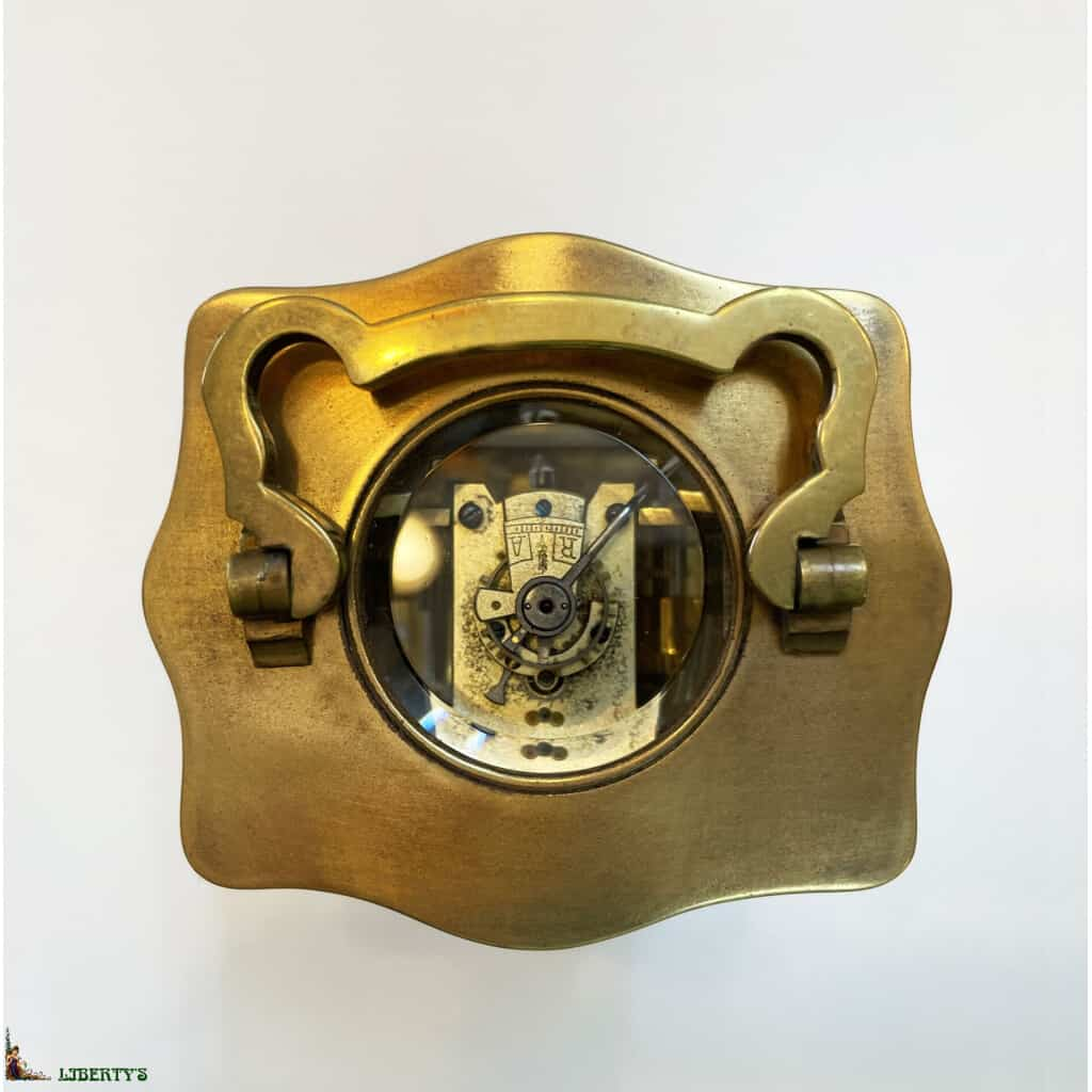 Pendulette de voyage bronze avec réveil, haut. 11 cm, (Fin XIXe) - 2