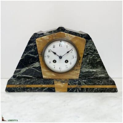 Pendule Art-Deco marbre, larg. 38.5 cm (1920-1930)