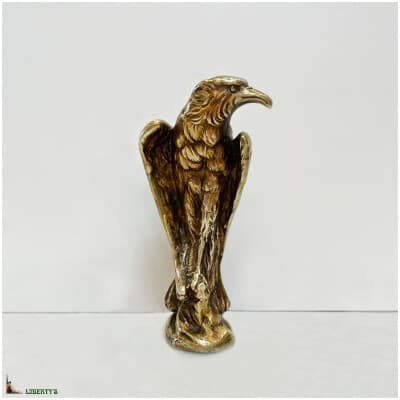 Cachet en bronze doré avec aigle, signé Marionnet, haut. 9 cm, (Deb. XXe)